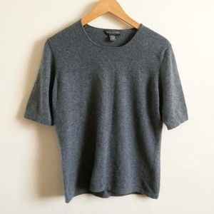 BANANA REPUBLIC  Cashmere short sleeve shell top